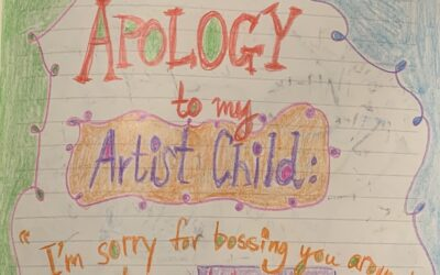 Apology to my Artist Child